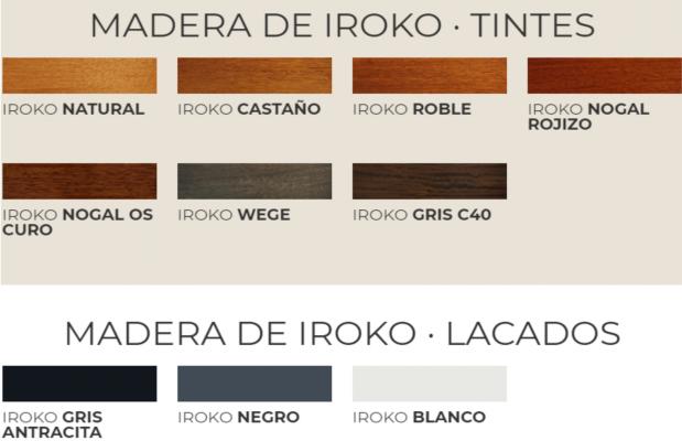 madera de iroko - puertas acorazadas camino