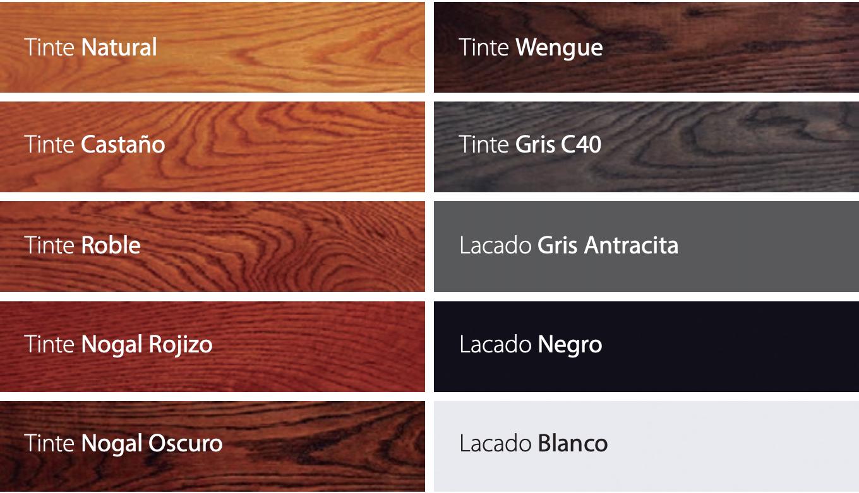 Colores segun ral - Puertas Camino